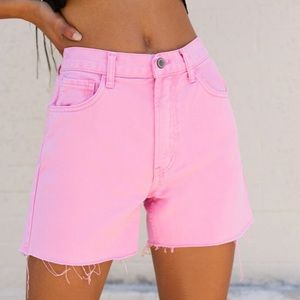 NWT brandy melville pink high waisted shorts